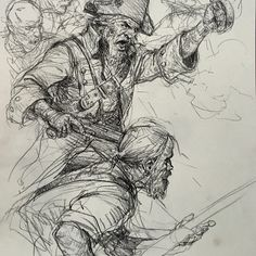 Art of Karl Kopinski Pirates! – Art Drawing Tips Cool Sketches, Drawing Sketches, Sketching, Sketchbook Drawings, Art Drawings, Karl Kopinski, Pirate Art, Map Painting, Unique Drawings