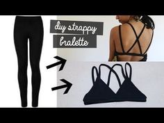 READ FOR STUFF Pattern: . Today I show you how to transform a pair of old leggings ito a cute strappy bralette! Diy Bralette, Strappy Bralette, Diy Jeans, Cut Clothes, Sewing Clothes, Tops Diy, Silvester Diy, Jean Diy, Bikini Modells