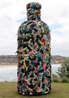 John Dahlsen - Environmental art, recycled art and abstract paintings #Art #Instalations