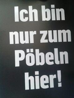 Ich bin nur zum pöbeln hier! :P #quotes #sprüche