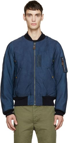 Visvim Navy Thorson Bomber Jacket | SSENSE saved by #ShoppingIS