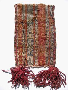 Pre-Columbian textiles Nasca Coca bag #10-NAZ by cyberrug