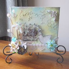 Grungy Spring Mixed Media Canvas - Designer: Misty Busby