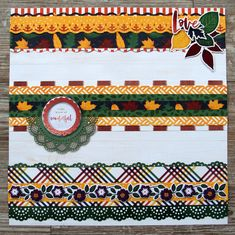 Make Your Pages Pop with these Vibrant Scrapbook Border Combinations Scrapbook Borders, Scrapbook Designs, Scrapbook Embellishments, Scrapbook Pages, Scrapbook Layouts, Scrapbooking Ideas, Borders For Paper, Paper Crafts, Diy Crafts