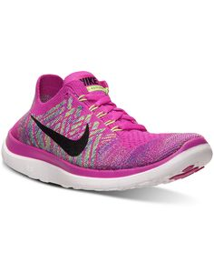 new arrival fb10b 6484b Nike Women s Free Flyknit 4.0 Running Sneakers from Finish Line - Finish  Line Athletic Shoes -