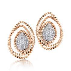 18kt Rose gold Brillante® Orbit Earrings with Brilliant Diamonds - Paolo Costagli