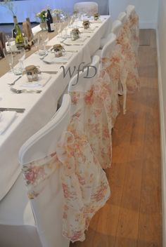 Kingston Estate Devon wedding, chair cover, sashes and table designs.