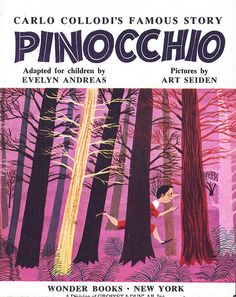 /// Pinocchio illus. by Art Seiden 1954 #pinocchio #illustration