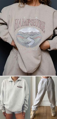 Trendy Outfits, Cool Outfits, Fashion Outfits, Sweatshirt Outfit, Cloths, Outfit Ideas, Clothes For Women, Nike, My Style