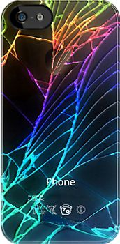 Retro Cool Broken, Damaged, Rupture Cracked out back Black apple phone made in USA apple iphone 4 4s, iphone 5, iphone 3, ipod 4 touch Case cover