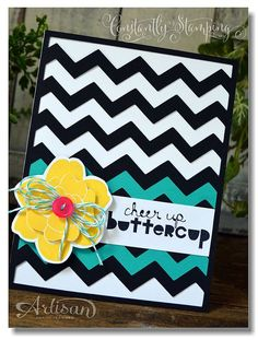 Chevron Background with Simple Stems