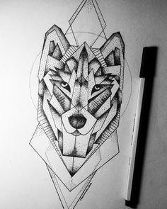 Geometryczny wilk jako pomysł na tatuaż, co o tym myślicie? ;)