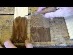 Räuchern von Holz, Beizen mit Kaliumpermanganat, chemische Beizen - YouTube