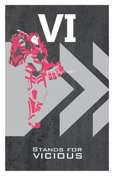 Vi League of Legends Print by pharafax on Etsy, $16.00