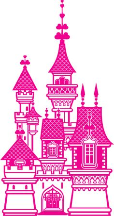 Princess Castle XXL - Wall Decals for Baby Nursery and Kids Rooms - Princess Themed Girl Room Decor - Decoration Removable Wall Stickers, High Quality Interior Design Baby Wall Decals, Kids Room Wall Decals, Removable Wall Stickers, Stencil Templates, Stencils, Princess Silhouette, Silhouette Cameo, Decoration Stickers, Castle Wall