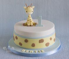 49 ideas cake decorating with fondant birthdays baby shower Giraffe Birthday Cakes, 1st Birthday Cake For Girls, Giraffe Cakes, First Birthday Cupcakes, Cool Birthday Cakes, Gateau Baby Shower, Baby Shower Sweets, Shower Cake, Boy Shower