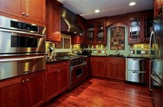 Very warm kitchen and a detailed backspash. #DreamHome