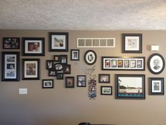 Our photo wall<3