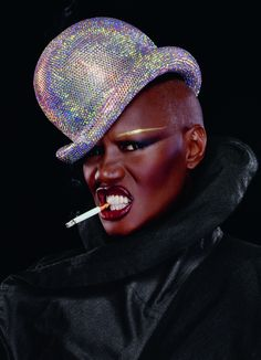 V57 GRACE JONES BY JEAN-PAUL GOUDE GRACE JONES IN PARIS, NOVEMBER 2008  STYLING ALEX AIKIU  CRYSTAL BOWLER SWAROVSKI  PHILIP TREACY COUTURE  JACKET YOHJI YAMAMOTO  GLOVES VINTAGE  ON EYES AND LIPS, M.A.C. PIGMENT IN PLATINUM  LIPSTICK M.A.C. PRO IN SIN #THROWBACK: 2009 THIS ENTIRE WEEK IS CELEBRATING GRACE JONES'S BIRTHDAY AS FAR WE'RE CONCERNED, AND WE'RE DEDICATING THIS THROWBACK THURSDAY TO V57'S COVER MODEL