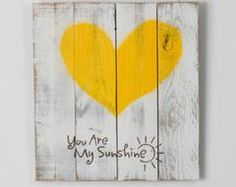 Reclaimed wood heart (you are my sunshine). This item is made out of reclaimed wood. We use old fence wood to create this beautiful piece. The item is handmade in the USA. wood projects projects diy projects for beginners projects ideas projects plans Pallet Crafts, Pallet Art, Wood Crafts, Pallet Fence, Farm Fence, Pallet Signs, Diy Crafts, Old Fence Wood, Old Fences