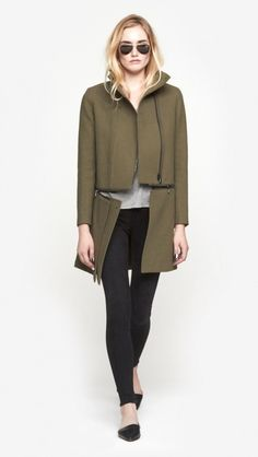Anise Zip Off Coat by J Brand