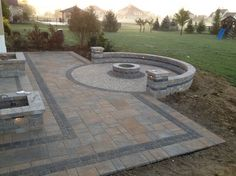 Outdoor Bar and Gas Fire Pit Outdoor Living Space - Traditional - Patio - Columbus - Pony Lawncare and Landscaping
