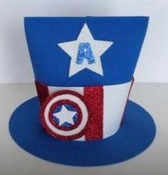 sombreros de goma espuma super heroe