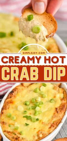 Learn how to make Crab Dip this football season! Creamy with a slight kick from Old Bay, this easy homegating recipe or tailgate food is perfect for game day. Save this crowd-pleasing appetizer recipe! Crab Dip Recipes, Appetizer Recipes, Yummy Appetizers, Hot Crab Dip, Tailgate Food, Football Season, Crowd, Crab Pasta, Seafood Restaurant