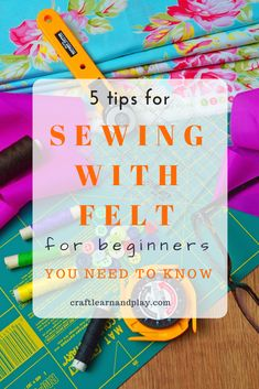 basic things about sewing with felt will help complete your new sewing project without frustration, either for sewing felt on a sewing machine or sewing felt by hand. Sewing Projects For Kids, Sewing For Kids, Felt Projects, Beginner Felting, Quiet Book Templates, Diy Quiet Books, Sewing Hacks, Sewing Tips, Sewing Ideas