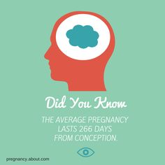 Did you know that the average #pregnancy lasts 266 days from conception?  http://pregnancy.about.com/od/gettingpregnant/p/duedate.htm
