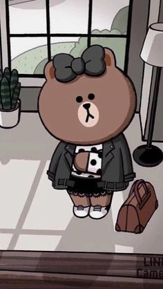 Friends Wallpaper, Bear Wallpaper, Wallpaper Iphone Cute, Cartoon Wallpaper, Cute Wallpapers, Rilakkuma Wallpaper, Cony Brown, Cute Love Cartoons, Cute Clay