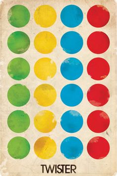 Also we'll play twister. Obviously. In keeping with the colorful theme.