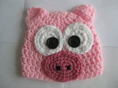 Crochet Pig Hat @Mirna Kuvalja Guevara