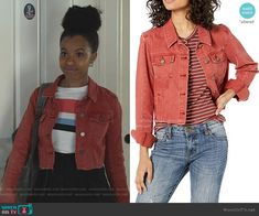 The Vivienne, Cropped Denim Jacket, 13 Reasons, Fashion Tv, Other Outfits, Military Jacket, Jackets, Clothes, Style