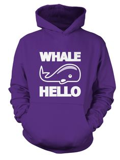 Whale Hello You can purchase this hoodie today by clicking through :)