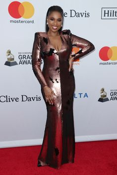 Pre-Grammy Parties: Celebs Dazzle On The Red Carpets Jan 2018, Jennifer Hudson, Hollywood Life, Red Carpet, Celebs, Singer, Icons, York, Usa