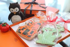 Halloween decorating inspiration. How do like my idea to use these Hermes boxes as cookies boxes? :)