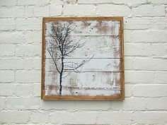Tree Print; 'Cold Caress' Reclaimed Wood Print - art & pictures
