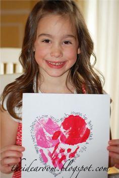 handprint valentine holiday