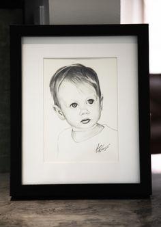 "Tiny Portrait | 5""x7"" | Graphite"