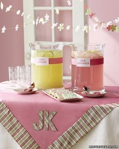 """See the """"Mint Limeade and Pink Lemonade"""" in our Bridal Shower Cocktails gallery"""