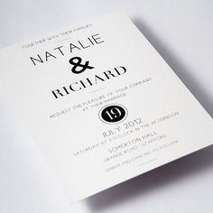 Modern Black & White Wedding Invitations   by IrisArtDesigns, £50.00