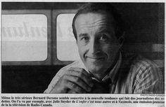 Bernard Derome et le vedettariat. La Presse, 22 octobre 1993.