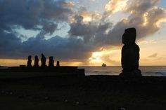 During a sunset viewing of the Moai on Easter Island, the ancient and the modern collide.