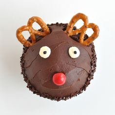 Rudolph cupcakes from Trophy Cupcakes! So cute and the kiddos will love them!