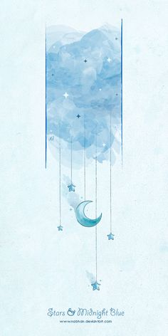 Stars and Midnight Blue by NaBHaN on DeviantArt Blue Sky Wallpaper, Star Wallpaper, Wallpaper Backgrounds, Wallpapers, Chinese Painting, Chinese Art, Dream Illustration, Animation Tools, Envelope Art