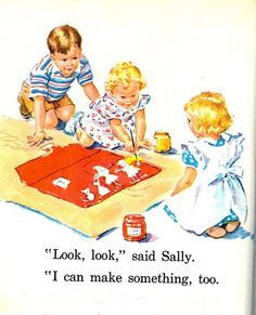 Dick and jane play marble