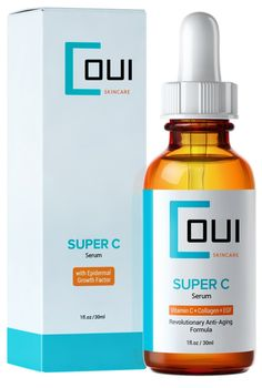 Super C Serum: A True Breakthrough in Anti Aging Skin Care - Fastest Collagen Creation for Smooth Skin with EGF, Marine Kelp, Vitamin C, Hyaluronic Acid and Antioxidants. Your Wrinkles, Fine Lines and Age Spots Will Fade and Diminish. Natural Treatment for Sensitive Skin, Rosacea and Acne Scars. Prepare Yourself for Endless Compliments…