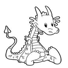 """gommette à colorier """"dragon"""""""