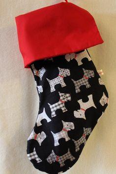 Scottie Dogs Holiday Stocking